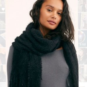 Free people black scarf